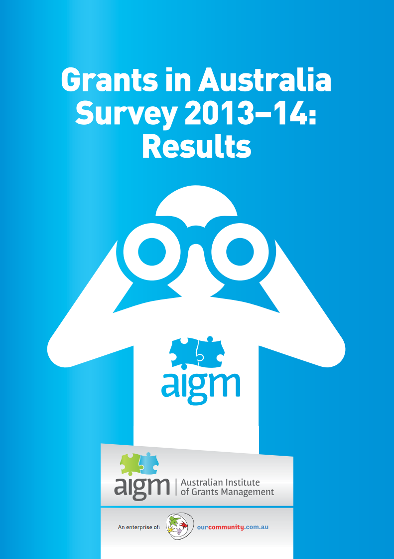 Grants in Australia 2013-14 survey