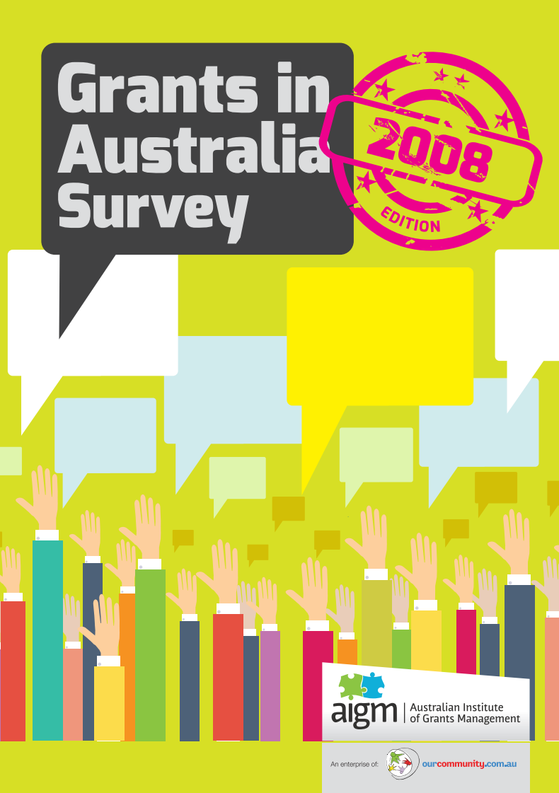 Grants in Australia 2008 survey