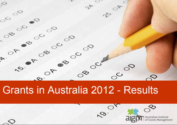 Grants in Australia 2012 survey