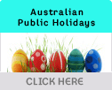 Australian Public Holiday Dates