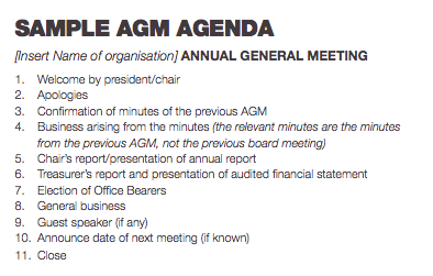 What are the legal requirements for annual general meetings tools minutes the relevant minutes are the minutes from the previous agm not the previous board meeting the mover and seconder dont have to have been at the altavistaventures Gallery