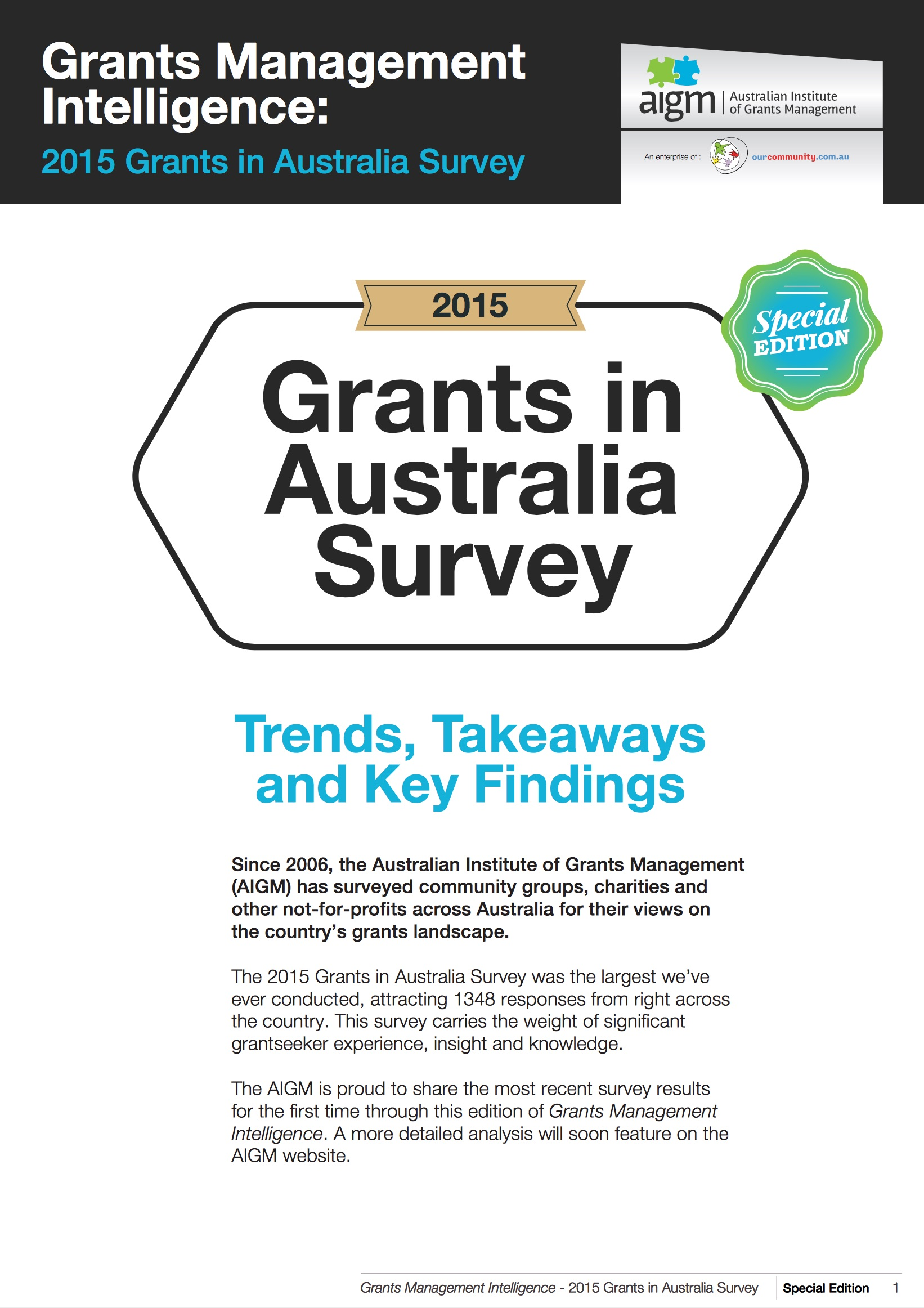 Grants in Australia 2009 survey